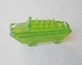 Vintage Soviet Russian plastic toy armored vehicle.
