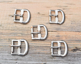 Vintage metal belt buckles.Set of 5.