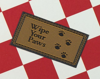 Dolls House Miniature Wipe Your Paws Doormat
