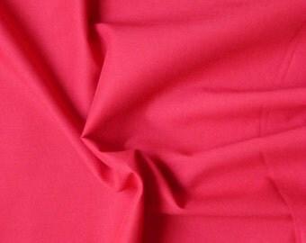 Voile de coton - rouge - 50 cm