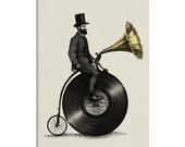 iCanvas Music Man Gallery Wrapped Canvas Art Print by Eric Fan