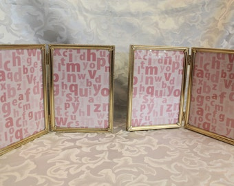 Folding Vintage Photo Frames - Picture Frames Gold - Folding