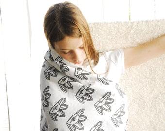 Faux Fur Baby Blanket, Quartz Crystal Organic Cotton, Plush Fur Blanket, Made to Order, Gemstone Blanket