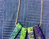 Lapis Lazuli Long Silver Necklace