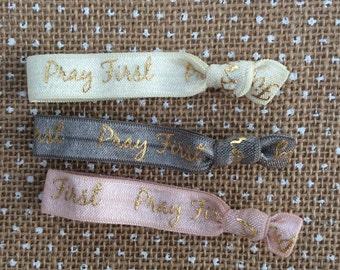 GRACE - PRAY FIRST hair tie bracelet set