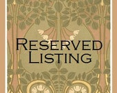 Reserved Listing for cpisarczyk24
