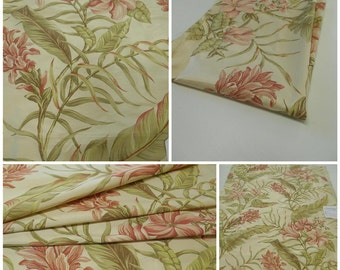 Printed Silk Fabric Remnant- Floral - pc 25inx35in-Botanical -Carrier Fabrics