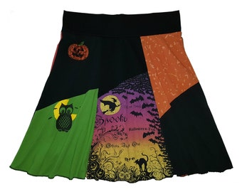 Halloween Plus Size 2X 3X Hippie Skirt Women's Size 20 22 24 upcycled clothing from Twinkle