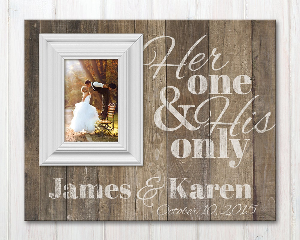 Personalized Wedding Picture Frame With Quote Custom Wood