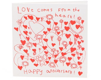 Love Comes From the Heart Card