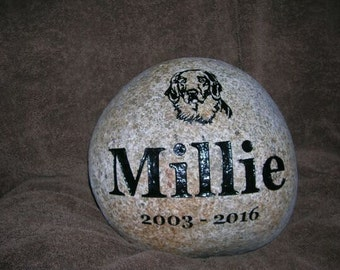 engraved stone, carved stone, etched stone, dog memorial stone, wedding stone, namesake stone, pet stone, pet marker, cat stone