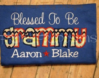 GRAMMY applique shirt for Grandmother Customized and Personalized with Kids Names