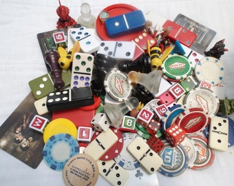 An Assortment of Vintage and Retro Game Pieces