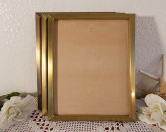 Vintage Gold Metal Picture Frame 8 x 10 Photo Decoration Mid Century Hollywood Regency Home Decor Rustic Shabby Chic Wedding Gift Him Her