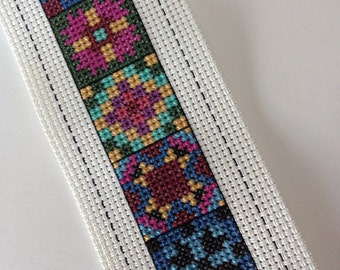 Cross Stitch Quilt Blocks Squares Bookmark Vinyl Weave