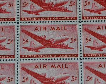 US  1946 Airmail mint sheet of 50 stamps C32