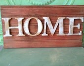 Rustic BeadBoard Home Sign, Gallery Wall Home Sign, Wooden Rustic Home Hanger or Mantle Sign