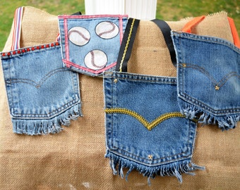 Up-cycled jean pocket purse