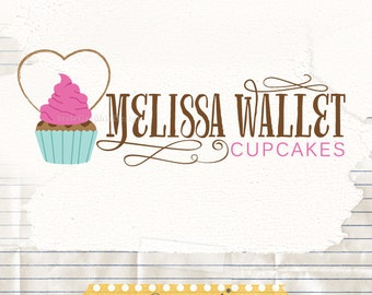 Premade Cupcake Logo - Baking logo premade - sweet logo -Baker Logo - cake logo premade