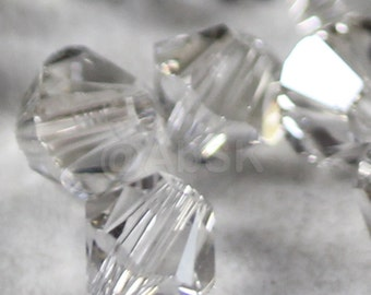 Swarovski Bicone Crystal Beads Xilion 5328 SILVER SHADE - Available in 3mm, 4mm, 5mm, 6mm and 8mm
