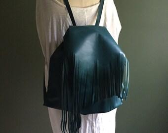 Teal Abbe backpack- 1603