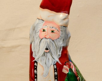 Special Order for DIANE Cypress Knee Santa with Skiis