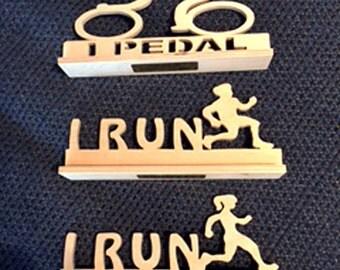 I Pedal, I Run Signs - Male Runner - Female Runner