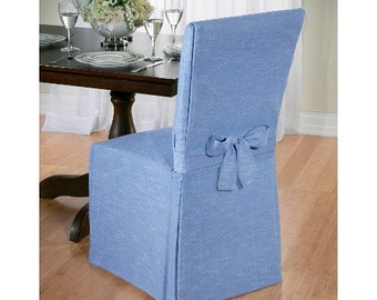 Canvas-Dining-Room-Chair-Slipcover - Pick A Fabric OR Send Your Fabric