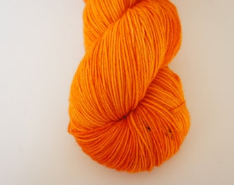 Orange is the New Bitch...on Pixie, Fingering Weight 100% SW Merino