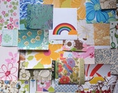 Gigantic Vintage Wallpaper Grab Bag- over 50 patterns of wallpaper from the 1960s and 1970s