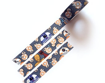 BB-8 and Droid Friends ARTIST Washi Tape