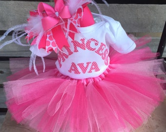 Tutu Diaper Cake, Diaper Cake, Girl Baby Shower Gift, Baby Shower Centerpiece, Take Home Outfit, Tutu, Pink and White, Pink Polka Dots