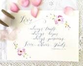 Love Print 1 Corinthians 13 Wedding Gift Or Decoration