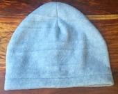 Fleece hat, grey, winter hat