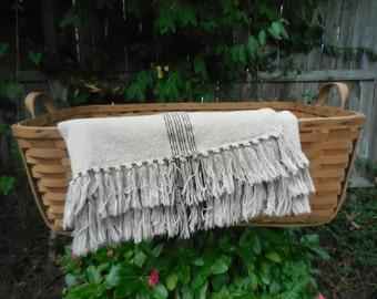 Antique Primitive Large Wooden Bent Split Oak Gathering basket