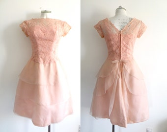 50s Pink Fairy Party Prom Dress S