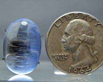 Natural Blue Dumortierite in Quartz Polished Crystal Mineral Specimen Cabochon 20.80 carats Loose Gemstone DanPickedMinerals
