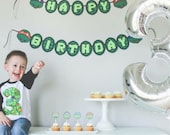 Turtles inspired Happy Birthday banner, Ninja Turtles Birthday Banner