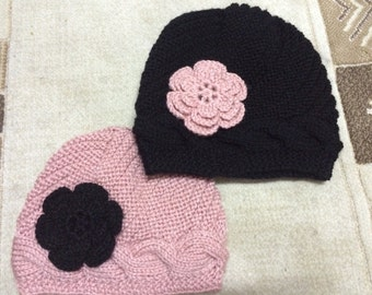 Mommy And Me Beanie Hat With Flower,Usa Seller