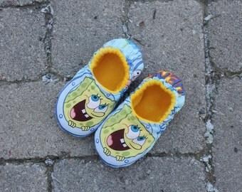 Sponge Bob or Patrick Children's Slippers