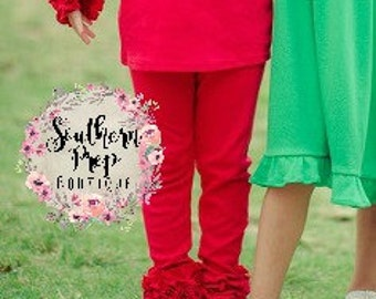 Girl's Icings - RED icing leggings - girl's holiday pants - Christmas outfit - fall icings - Girl's pants