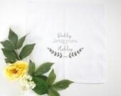 Men's  Printed Handkerchief Keepsake with Laurel Printed Handkerchief.  Heirloom Hanky