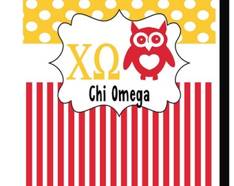 Chi Omega/Personalized Garden or House Flag