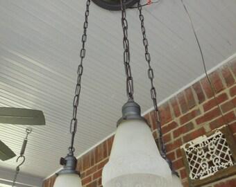 Antique Ceiling Light Arts & Crafts Chandelier