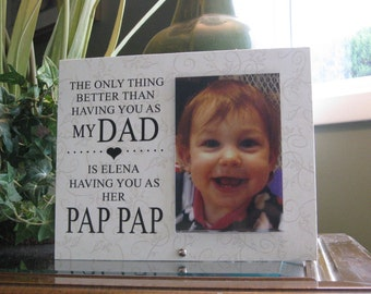 Pap Pap Gift (SELECT ANY GRANDFATHER Name) Pap Pap Frame, Pap Pap Picture Frame, Pap Pap Photo Frame. 4x6 photo, 4 x6 photo, Saying Choice