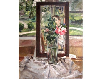 mirror and peony