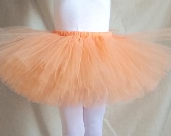 Peach Tutu, Peach Skirt, Girls Tutu, Birthday Tutu, Party Tutu, Girls Gift, Peach and Gold Tutu, Costume Tutu, Birthday Outfit Tutu