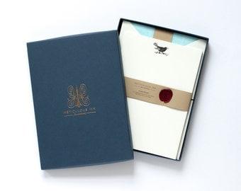 Letterpress Blackbird Letterhead Box Set