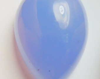 Namibian blue chalcedony designer cab high dome drop  AA+  color and clarity 33.95 ct.