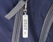 Personalized Backpack Tag- Sports Bag Tag- Name Tag- Zipper Charm- Football- Baseball- Soccer- Basketball- Volleyball